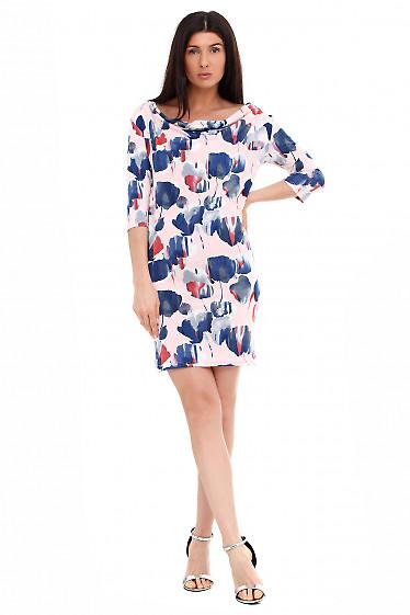 Платье с качелькой в ромбики. Деловая женская одежда фото