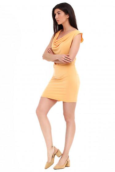 Купить летнее желтое платье. Деловая женская одежда фото