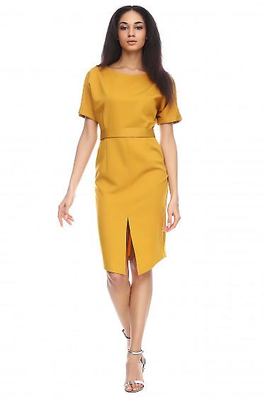 Платье с разрезом спереди Деловая женская одежда фото