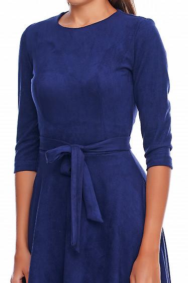 Платье замшевое Деловая женская одежда фото