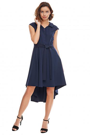 Купить синее коктейльное платье Деловая женская одежда фото