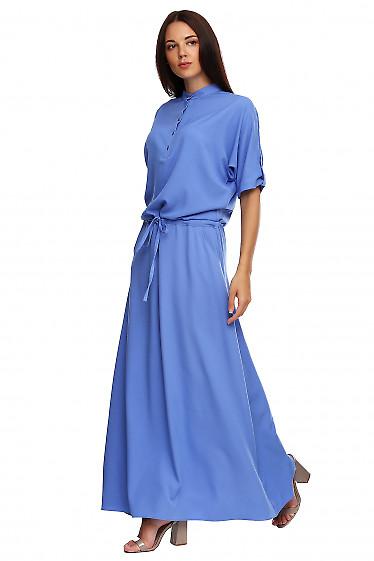 Купить платье в пол со стойкой. Деловая женская одежда фото