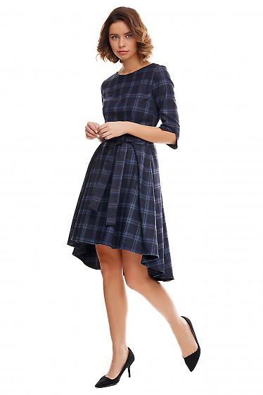 Купить платье теплое с несимметричной юбкой. Деловая женская одежда фото