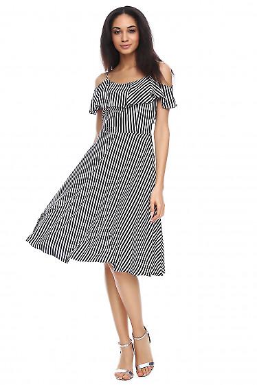 Платье с воланом по груди Деловая женская одежда фото