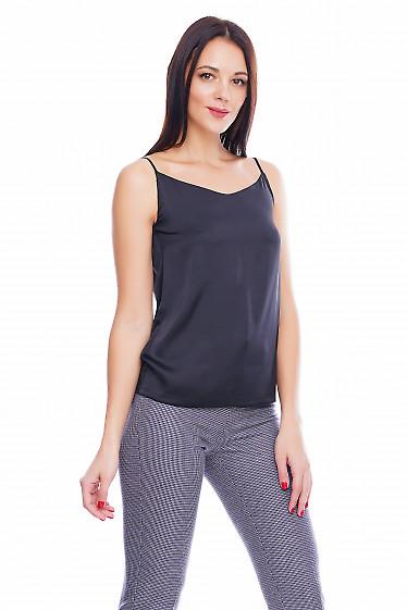 Топ шелковый черный Деловая женская одежда фото