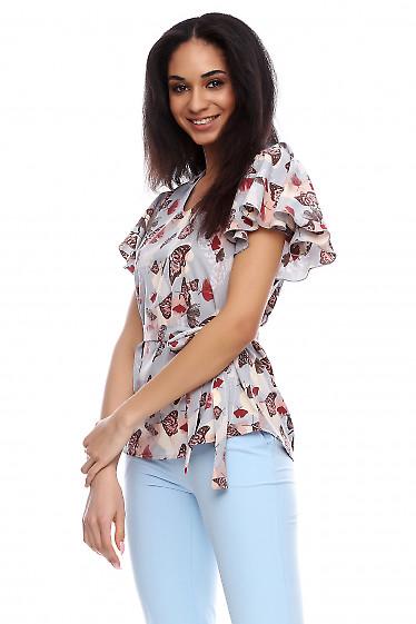Блузка с крылышком Деловая женская одежда фото