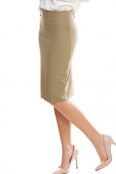Купить юбку карандаш оливковую Деловая женская одежда фото