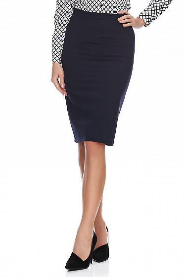 Купить юбку с разрезом впереди. Деловая женская одежда фото