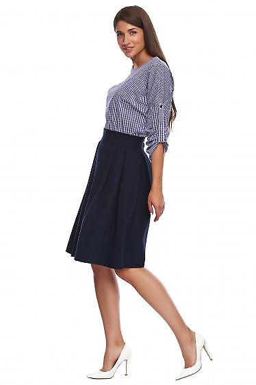 Купить юбку в складку с высоким поясом. Деловая женская одежда фото