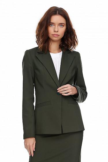 Купить жакет зелёный женский приталенный. Деловая женская одежда фото