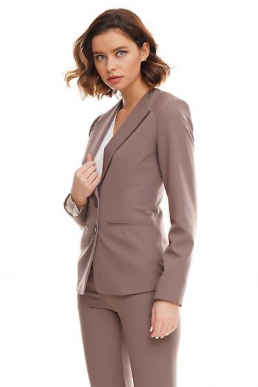 Купить жакет женский цвета хаки с погончиками Деловая женская одежда фото
