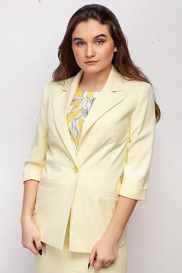 Жакет бледно-желтый. Деловая женская одежда фото