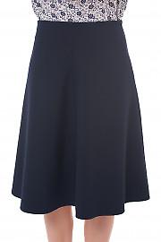 Юбка-трапеция синего цвета Деловая женская одежда фото