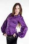 Блуза фиолетовая Деловая женская одежда