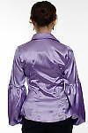 Блузка сиреневая атласная  вид сзади Деловая женская одежда