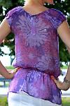 Туника фиолетовая  вид сзади Деловая женская одежда