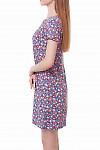 Купить платье в яркие розы со встречной складкой Деловая женская одежда