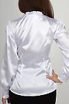 Фото Блузка белая из атласа. Вид сзади Деловая женская одежда