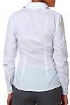 Фото Блузка белая классическая с планочкой  вид сзади Деловая женская одежда