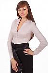 Фото Блузка в мелкую розовую полоску Деловая женская одежда