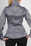 Фото Блузка в полоску серебро. Вид сзади Деловая женская одежда