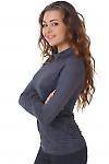 Фото Гольф темно-серый из спандекса вид сбоку Деловая женская одежда