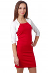 Фото Платье красное Деловая женская одежда