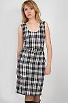 Фото Сарафан в бежево-черную клетку Деловая женская одежда