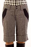 Фото Шорты серые из  твида Деловая женская одежда