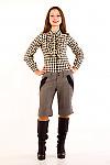 Фото Шорты серые из  твида. Вид спереди Деловая женская одежда