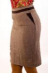 Фото Юбка из коричневого твида. Вид сзади Деловая женская одежда