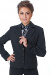 Фото Жакет черный классический теплый Деловая женская одежда