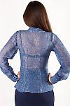 Фото Блузка синяя Деловая женская одежда