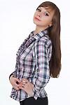 Купить блузку с рюшами Деловая женская одежда