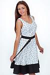 Платье белое в бабочки Деловая женская одежда