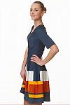 Фото Платье трикотажное с пышной юбкой Деловая женская одежда