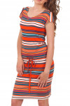 Купить платье в оранжевую полоску Деловая женская одежда