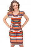 Купить трикотажное летнее платье Деловая женская одежда