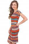 Купить летнее полосатое платье Деловая женская одежда