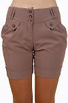 Купить коричневые шорты Деловая женская одежда