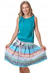 Юбка цветная в полоску Деловая женская одежда