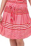 Юбка в красную полоску Деловая женская одежда