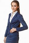 Жакет синий с отрезной талией Деловая женская одежда
