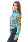 Купить блузку в цветы Деловая женская одежда