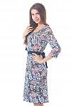 Купить теплое платье с юбкой трапецией Деловая женская одежда