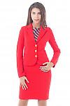 Купить трикотажный коралловый костюм Деловая женская одежда