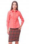 Купить блузку розовую с защипами Деловая женская одежда