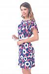 Купить платье синее в бело-розовые ромашки Деловая женская одежда