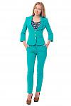 Купить зеленый костюм Деловая женская одежда