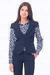 Купить жилетку синюю с защипами впереди Деловая женская одежда